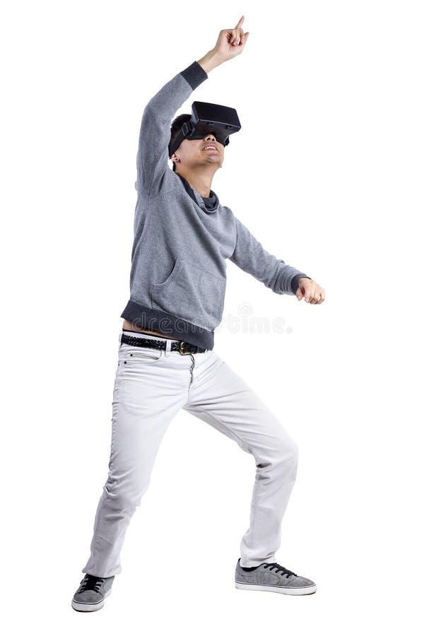 Realidad virtual interactiva foto de archivo