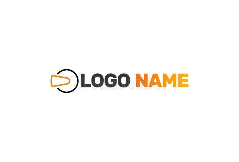 Realidad virtual Logo Design del vector stock de ilustración