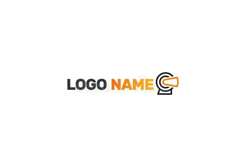 Realidad virtual Logo Design ilustración del vector