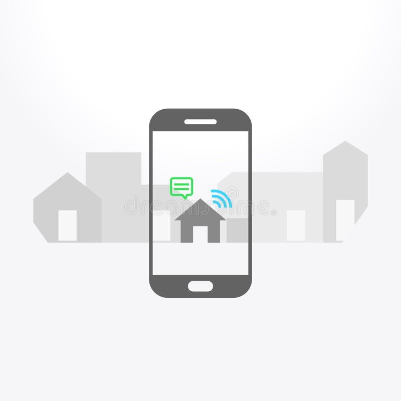 Realidade aumentada na aplicação do smartphone ilustração royalty free
