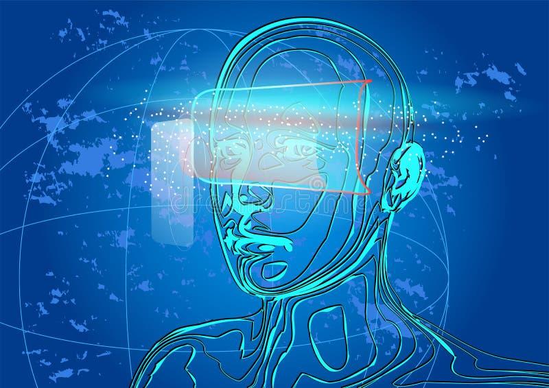 Realidade virtual ilustração do vetor
