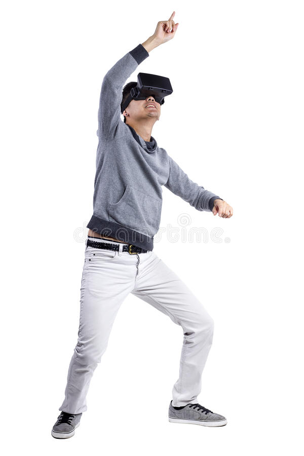 Realidade virtual interativa foto de stock