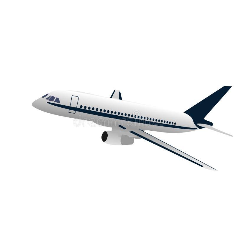 Realisic Abbildungflugzeug stock abbildung