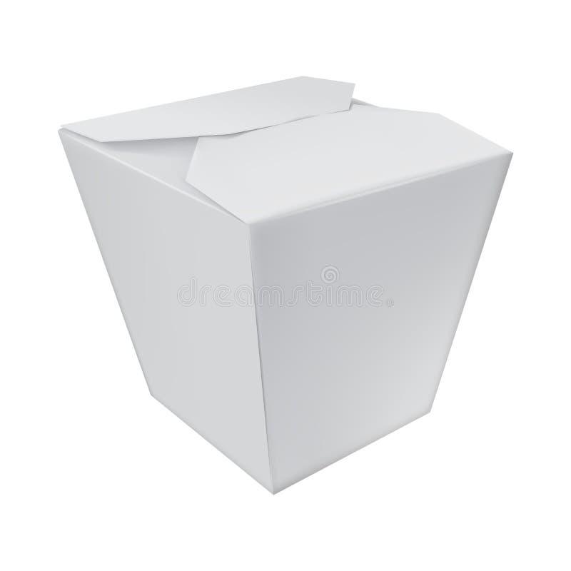 Realista llévese la caja de la comida stock de ilustración