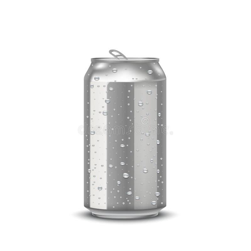 Realistic aluminum cans vector illustration