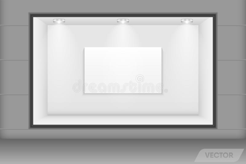 Realistic Architecture Modern Interior of Presentation Gallery Studio Show room or  Advertising Collection Bill Board, Creativity royalty free stock photos