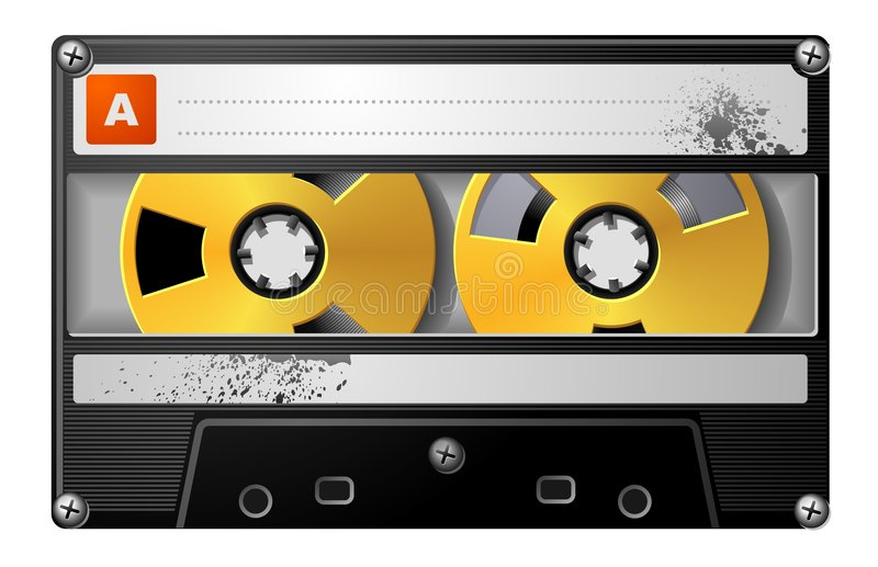 Download Realistic Audio Cassette In Black Case. Stock Vector - Illustration: 5538948