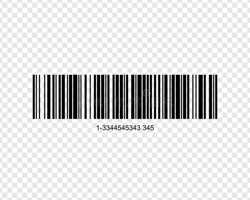 Realistic bar code. Icon isolated on background vector illustration