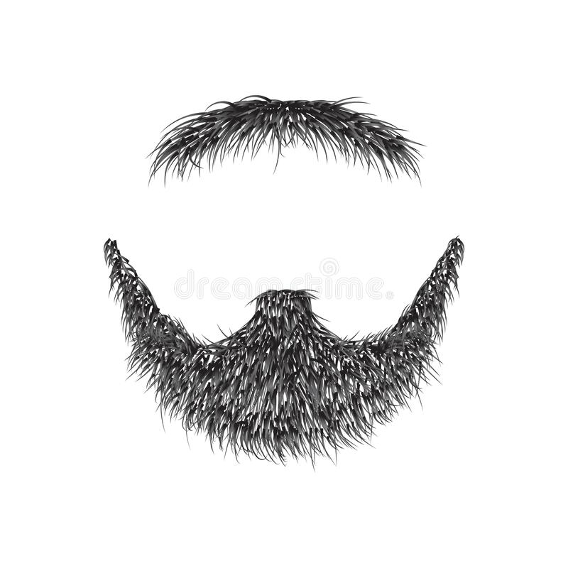 Realistic Beard isolated on white background vector illustration