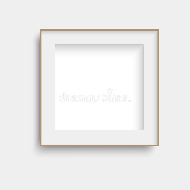 Realistic black poster frame mock up. Vector. stock images