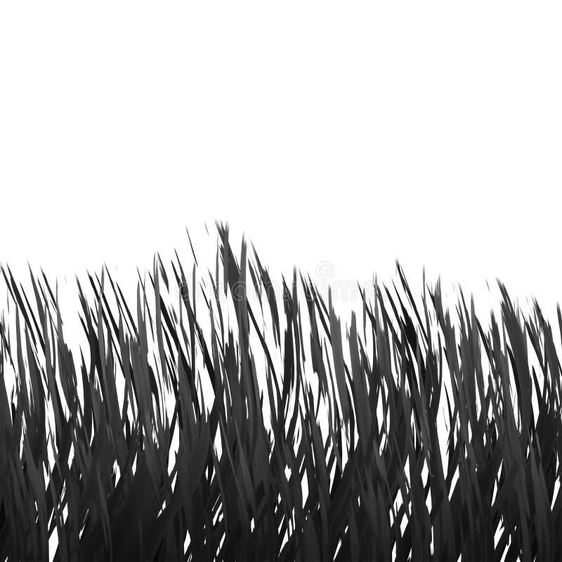 Realistic Black&White Grass stock photo