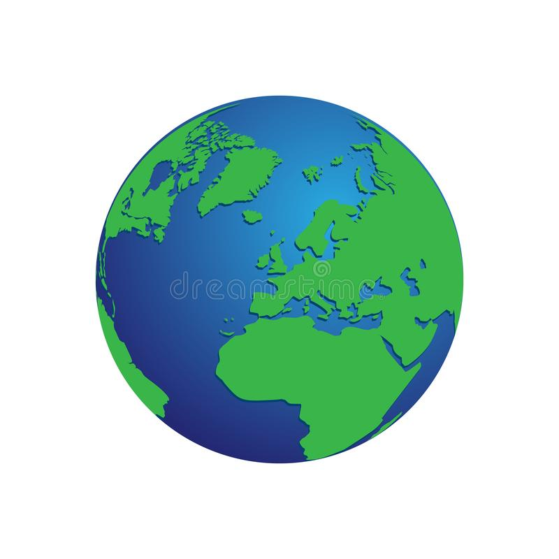 Realistic blue and green 3d world map globe isolated background download realistic blue and green 3d world map globe isolated background vector eps 10 stock gumiabroncs Choice Image