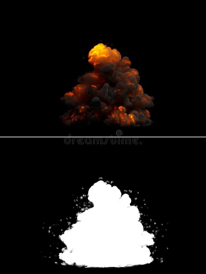 Realistic Bomb Explosion stock illustration