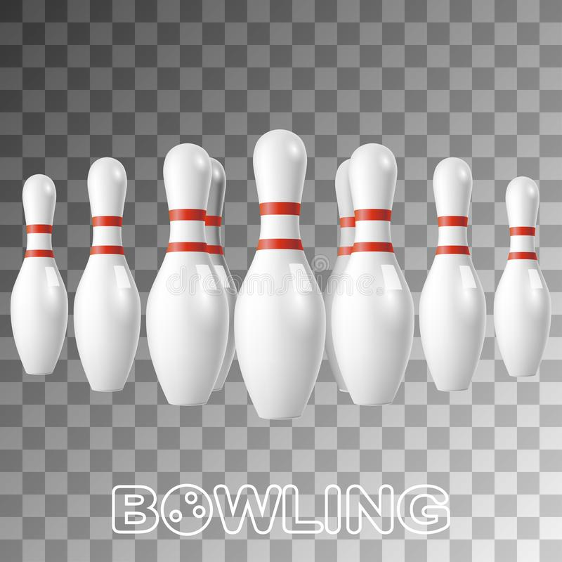 Free Realistic Bowling White Pins Isolated On Transparent Stock Photos - 139452893