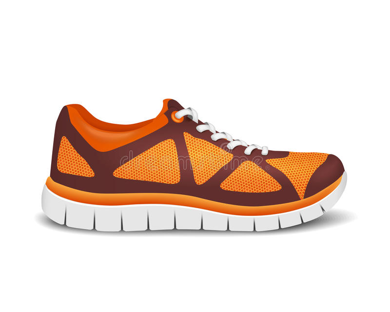 Realistic bright sport shoes for running. Vector illustration. EPS 10 royalty free illustration