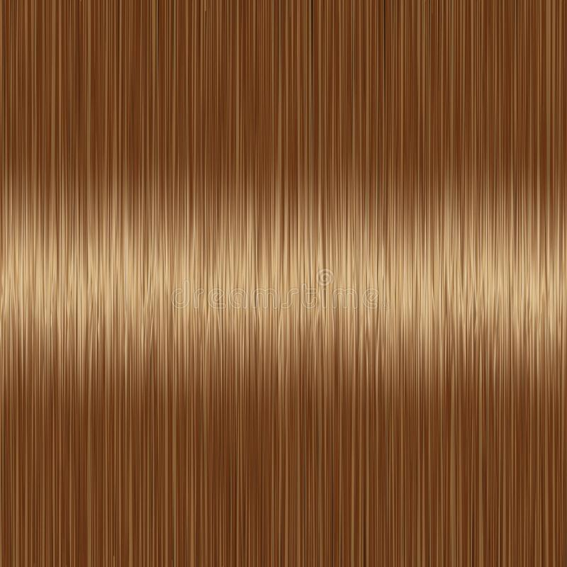 Realistic brown straight hair texture stock illustration