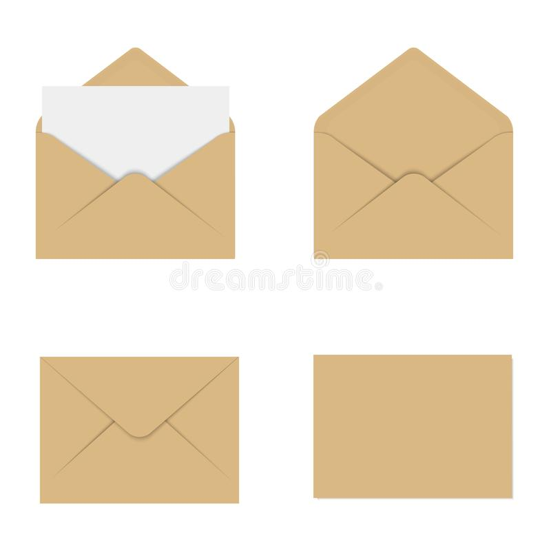Realistic brown mockup envelope for letter or invitation card download realistic brown mockup envelope for letter or invitation card vector stock illustration illustration stopboris Choice Image