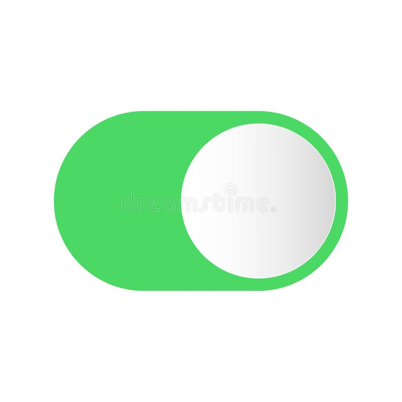 Realistic button switch for turning on off vector illustration