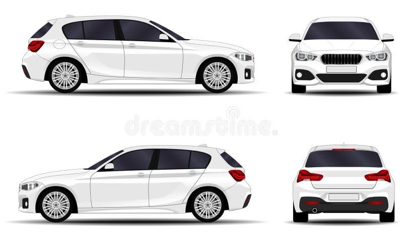 Realistic car. hatchback. stock illustration
