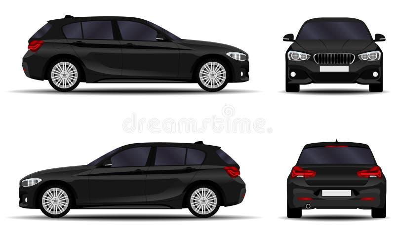 Realistic car. hatchback. vector illustration