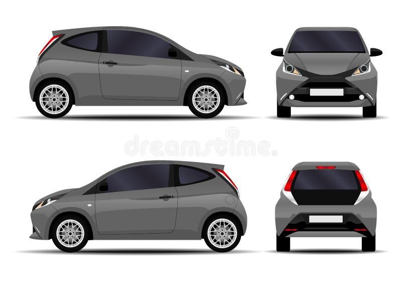 Realistic hatchback car. vector illustration