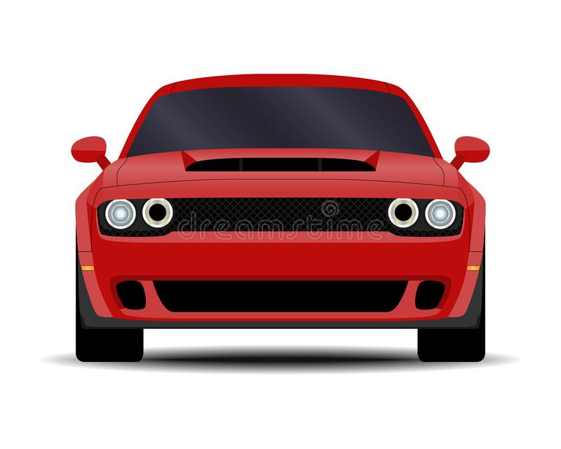 Realistic Muscle car royalty free illustration