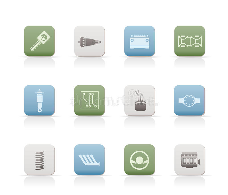 Download Realistic Car Parts And Services Icons Stock Vector - Image: 14297824