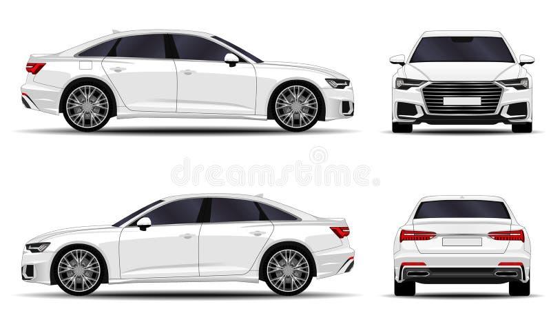 Realistic car sedan royalty free illustration
