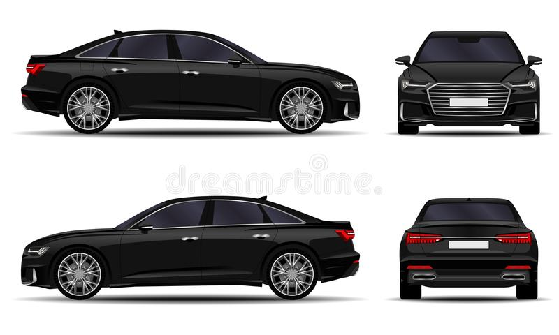 Realistic car sedan vector illustration