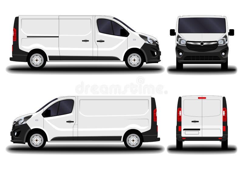 Realistic cargo van. stock illustration