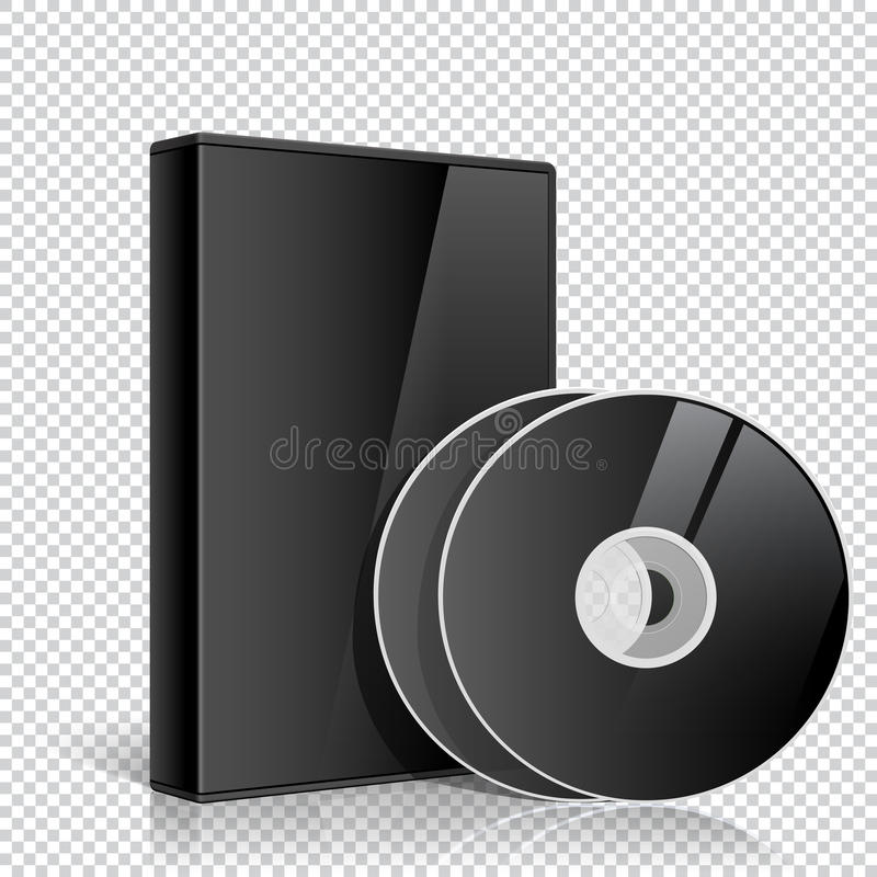 Free Realistic Case For Two Or More DVD CD Disk Stock Photos - 34291633