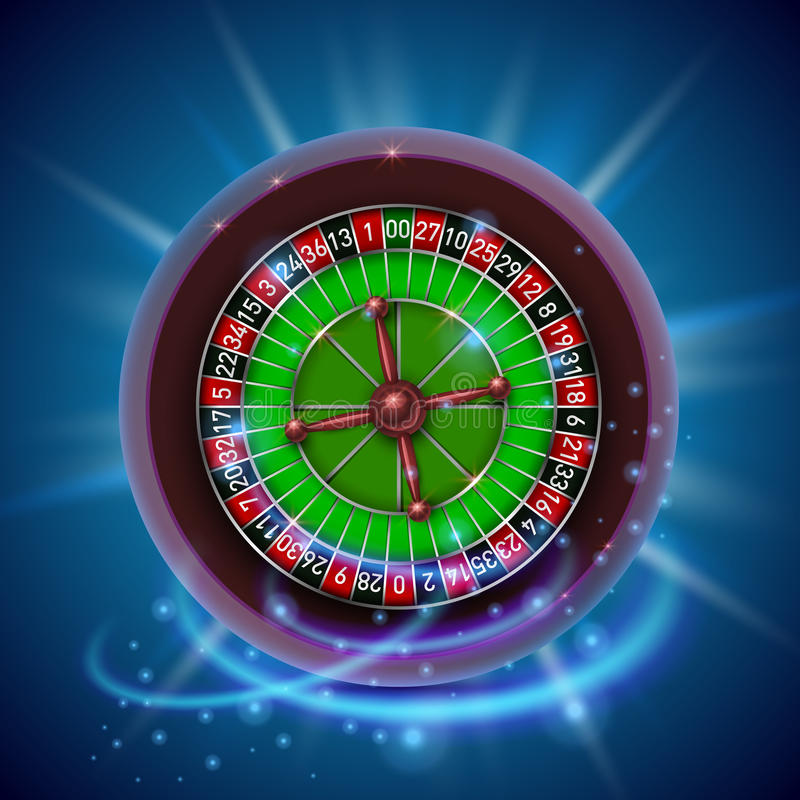 Realistic casino gambling roulette wheel. Cover background. Vector illustration stock illustration