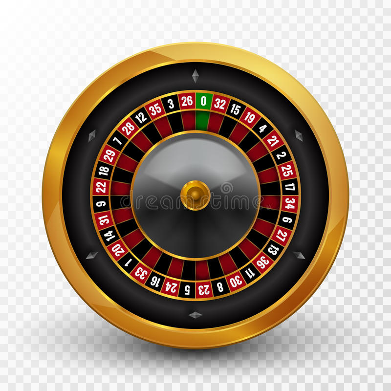 Realistic casino gambling roulette wheel . Vector play chance luck roulette wheel illustration stock illustration