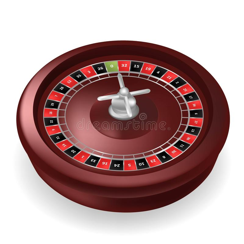 Realistic casino roulette wheel isolated on white background. 3d realistic vector illustration. Online casino roulette gambling vector illustration
