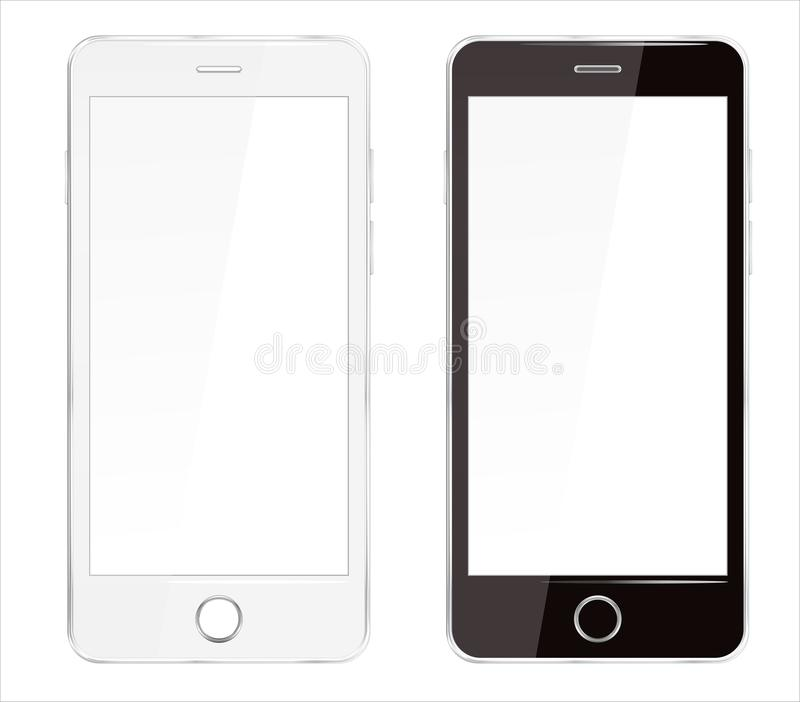 Realistic Cellphone Smartphone Vector of Touchscreen Phone Device vector illustration