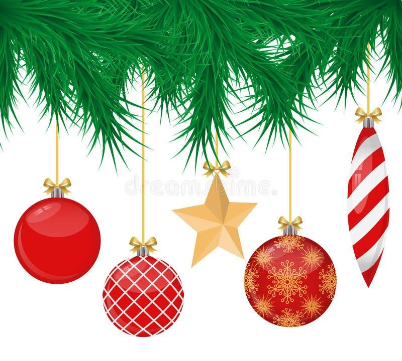 Realistic christmas balls set royalty free illustration