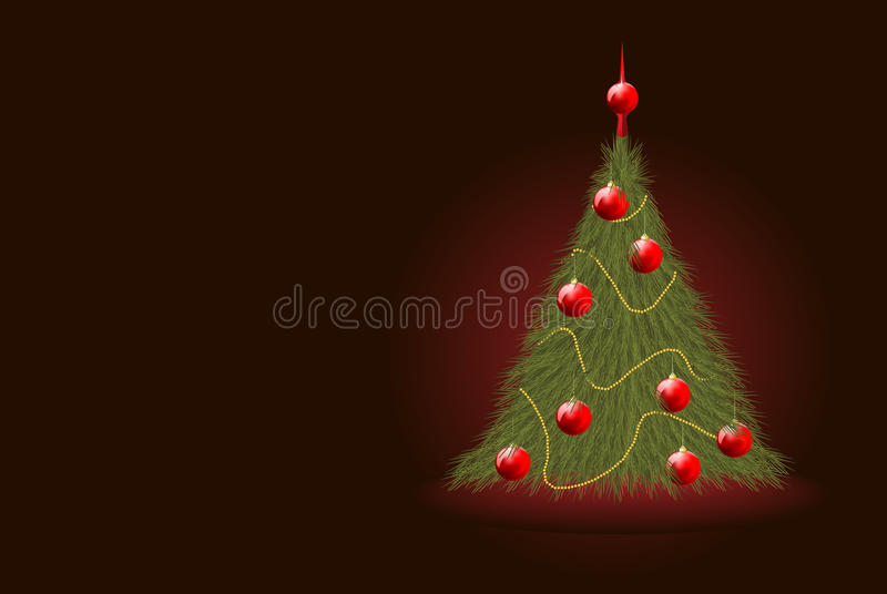 Download Realistic Christmas tree stock vector. Image of image - 21510782