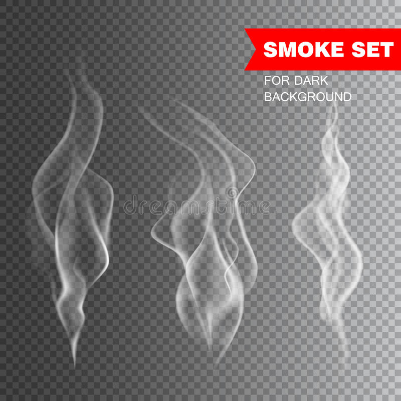 Realistic cigarette smoke vector. Illustration royalty free illustration