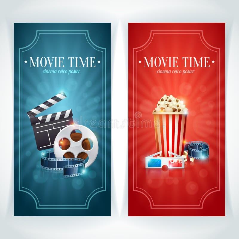 Realistic cinema movie poster royalty free illustration