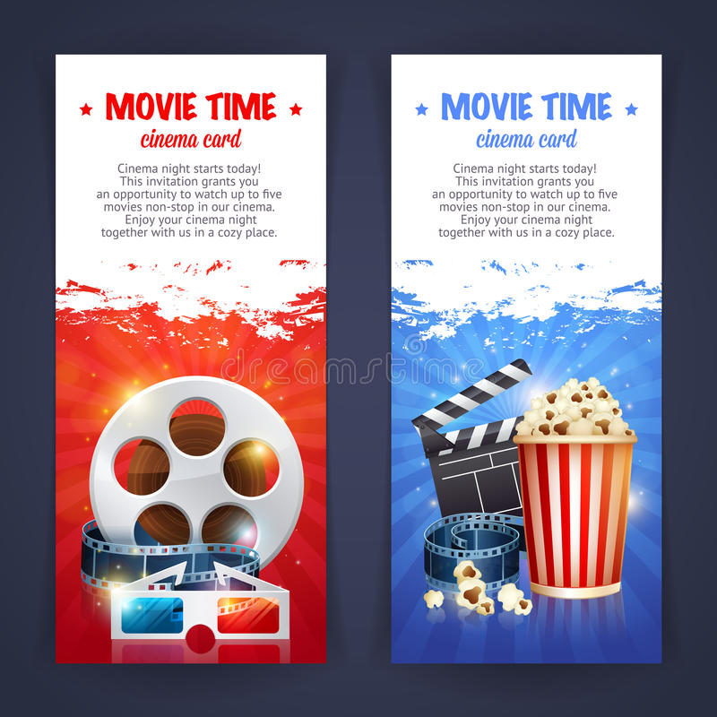 Realistic Cinema Movie Poster Template Stock Vector - Illustration ...