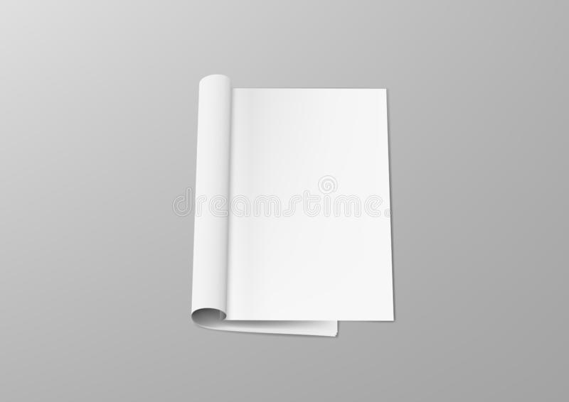 Realistic Clear Open Magazine Or Catalog Template. EPS10 Vector vector illustration