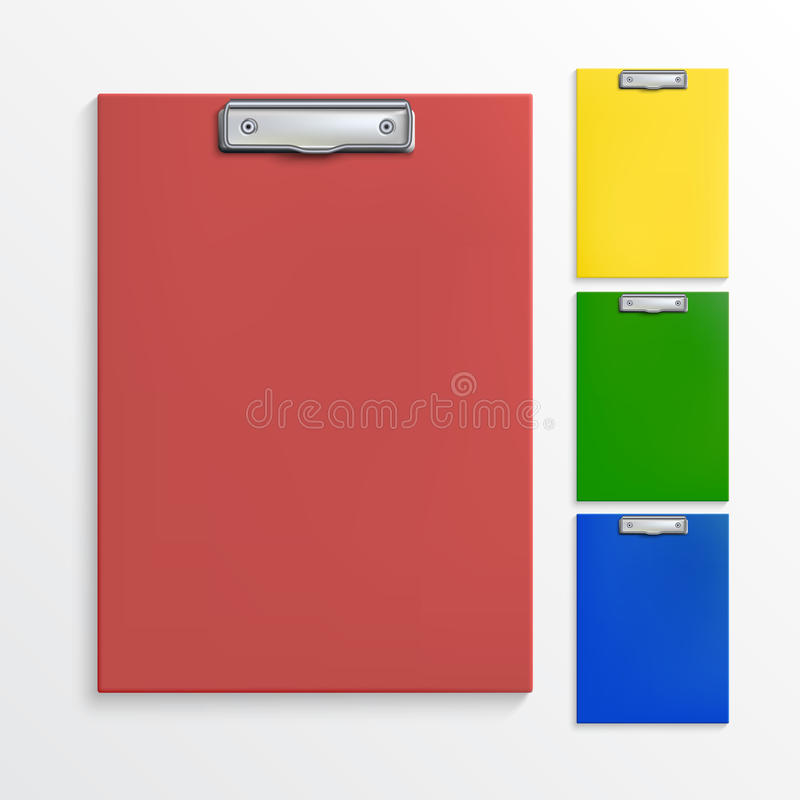 Realistic clipboards stock illustration