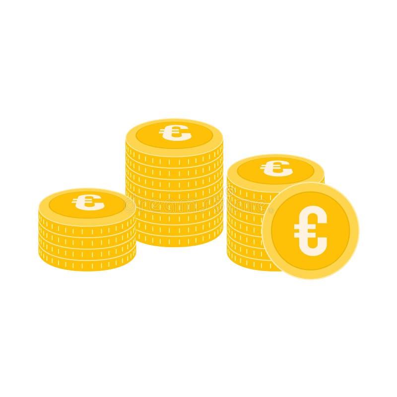 Realistic Coin Vector Icon Design Template. Gold Coin Stack vector Illustration. vector illustration