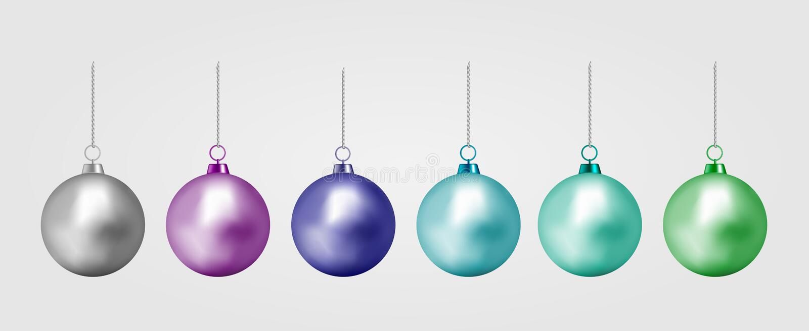 Realistic color Christmas ball. New year toy.  vector illustration