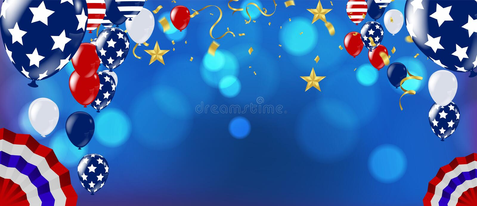Realistic Colorful Bunch of Birthday Balloons Flying for Party and Celebrations. Happy birthday royalty free illustration