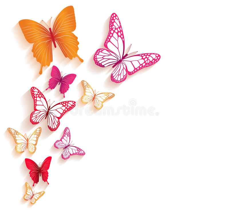 Realistic Colorful Butterflies Isolated for Spring. Editable Vector Illustration vector illustration