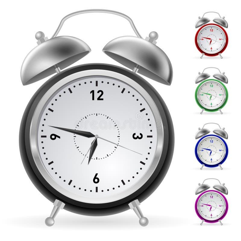 Realistic Colorful Clock Stock Photo