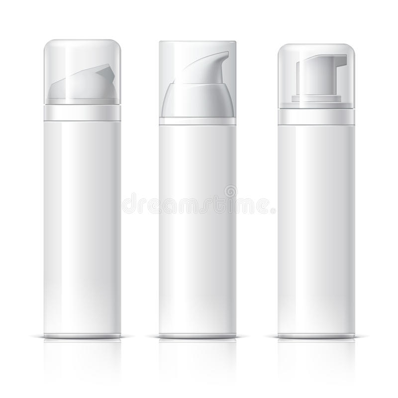 Realistic Cosmetic bottle can sprayer container. vector illustration