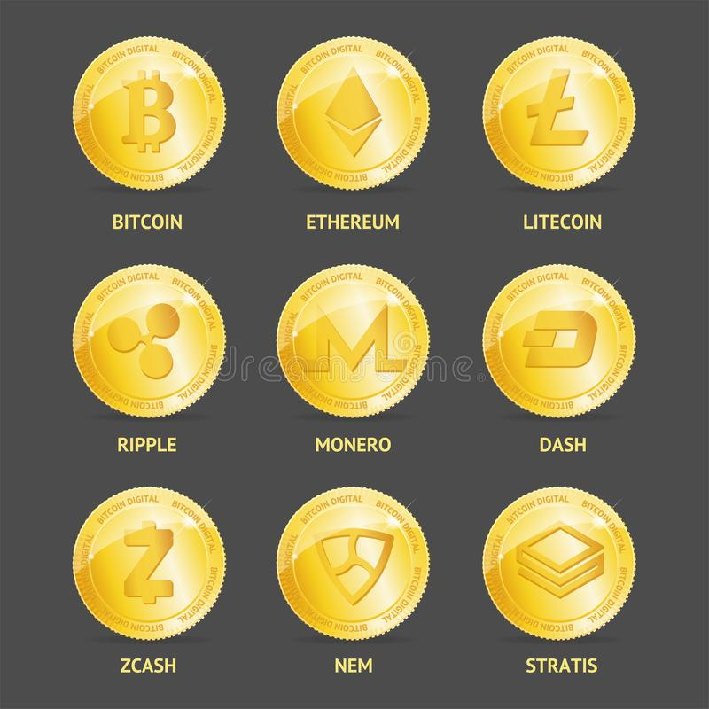 different types of cryptocurrency coins