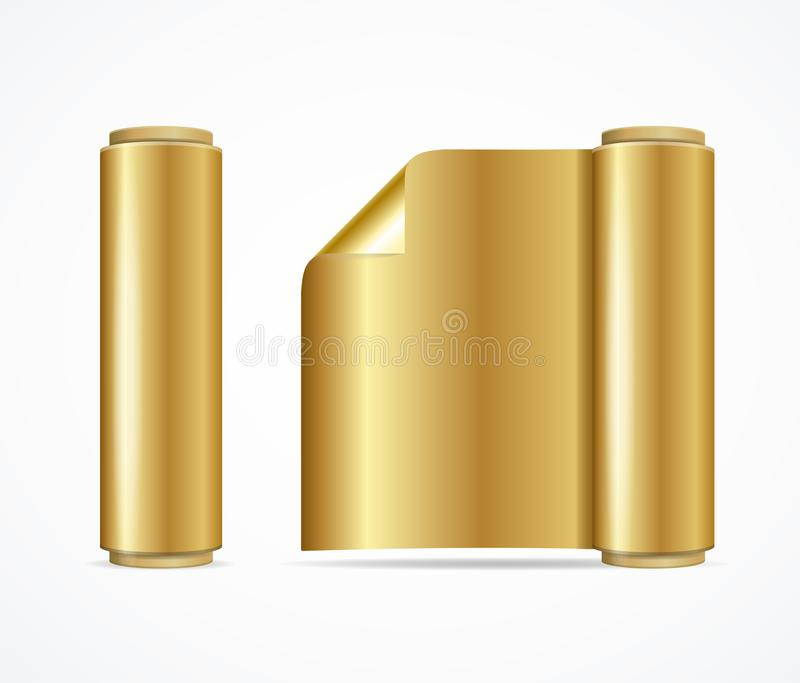 Gold Foil Logo Mockup With Black Paper Background
